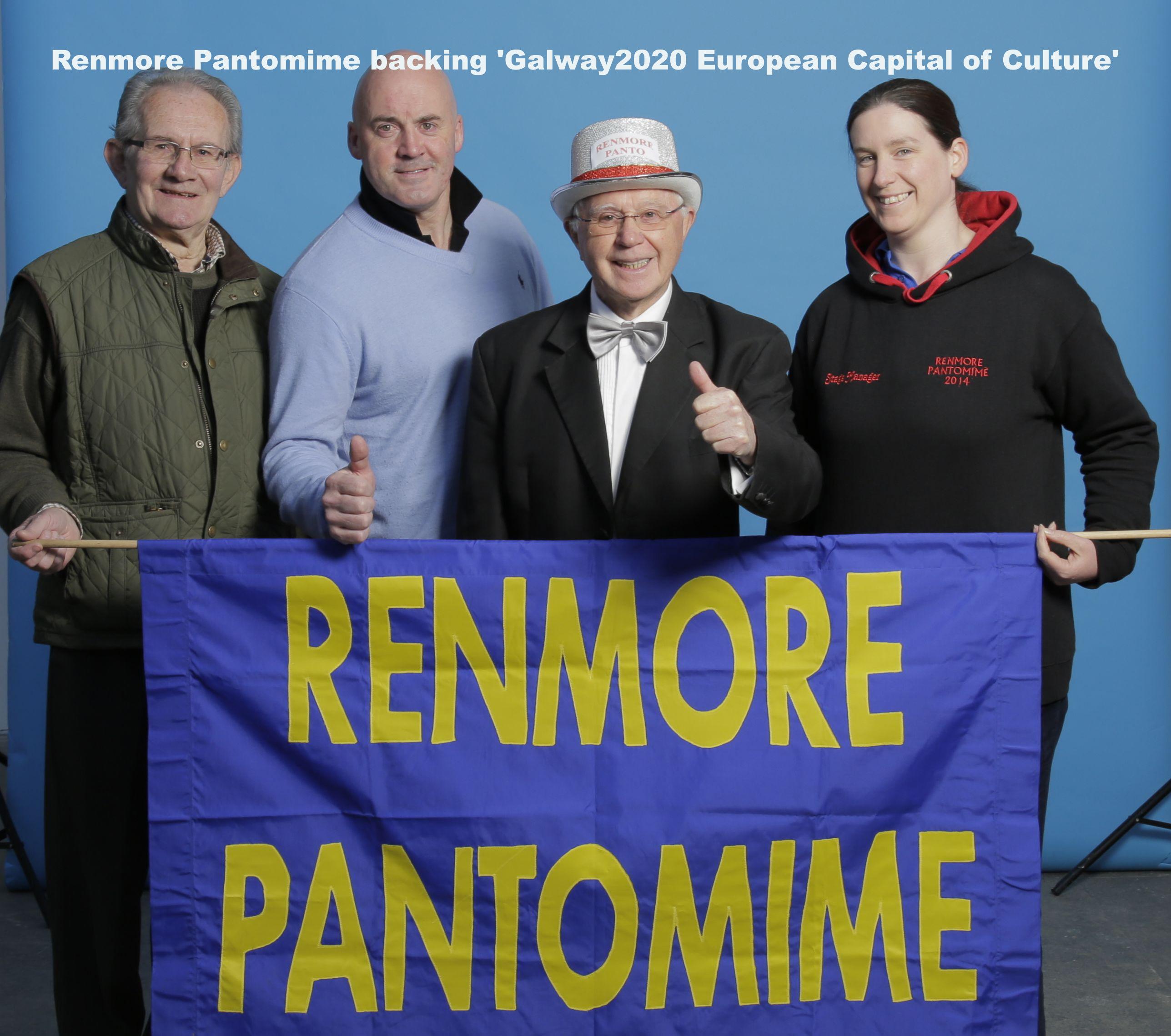 Renmore Pantomine 2020 + banner & script